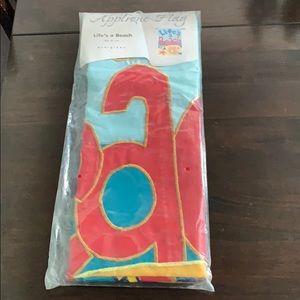 """NIP EVERGREEN SANTA APPLIQUÉ decorative Flag  28/"""" X 44"""""""
